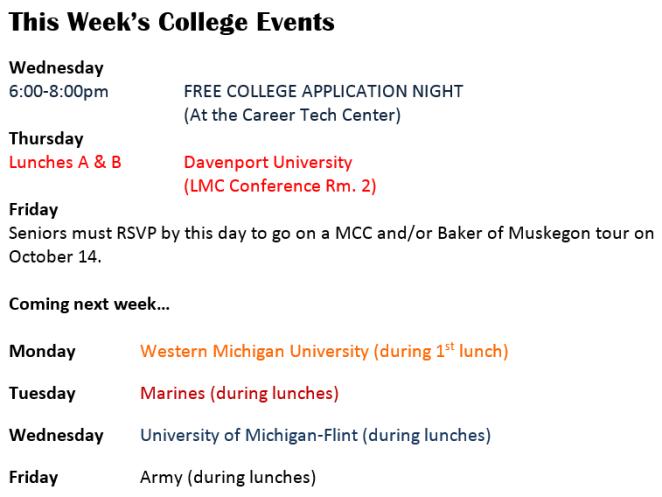 Colleges Visit
